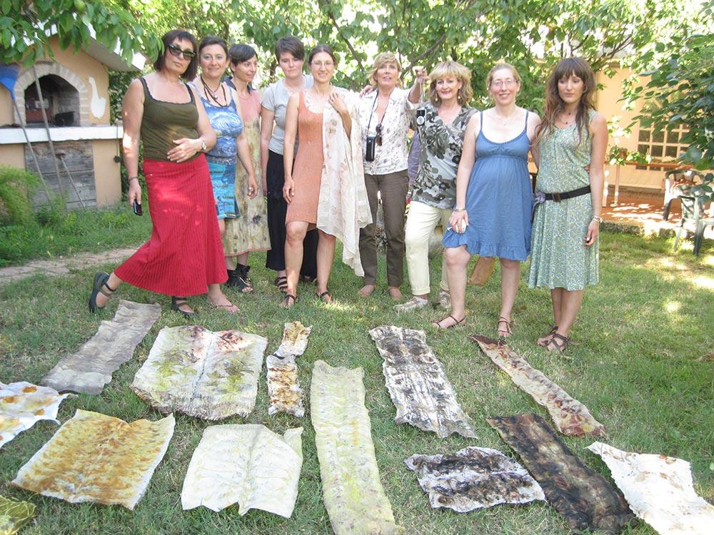 Corso di EcoPrinting – Tintura Naturale